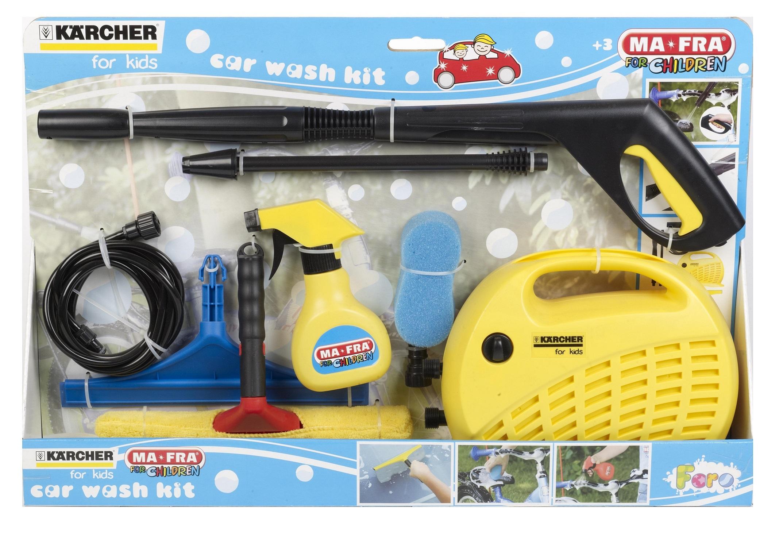 8pcs K 228 Rcher Working Kids Toy Car Bike Care Wash Clean Kit