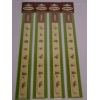 SET OF 12, 30cm RULERS, 4 EACH OF BARBIE, MUPPET & WITCH