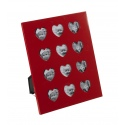 Red 12 Picture Heart Photo Frame [740044]