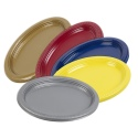 Plastic Oval Platters 12 Inch 5 Colours