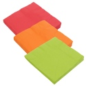 Serviettes 3ply Large Square 13 Inch 3 Colours