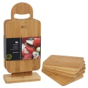 6pcs Chopping Board Set With Display Stand  (186189)