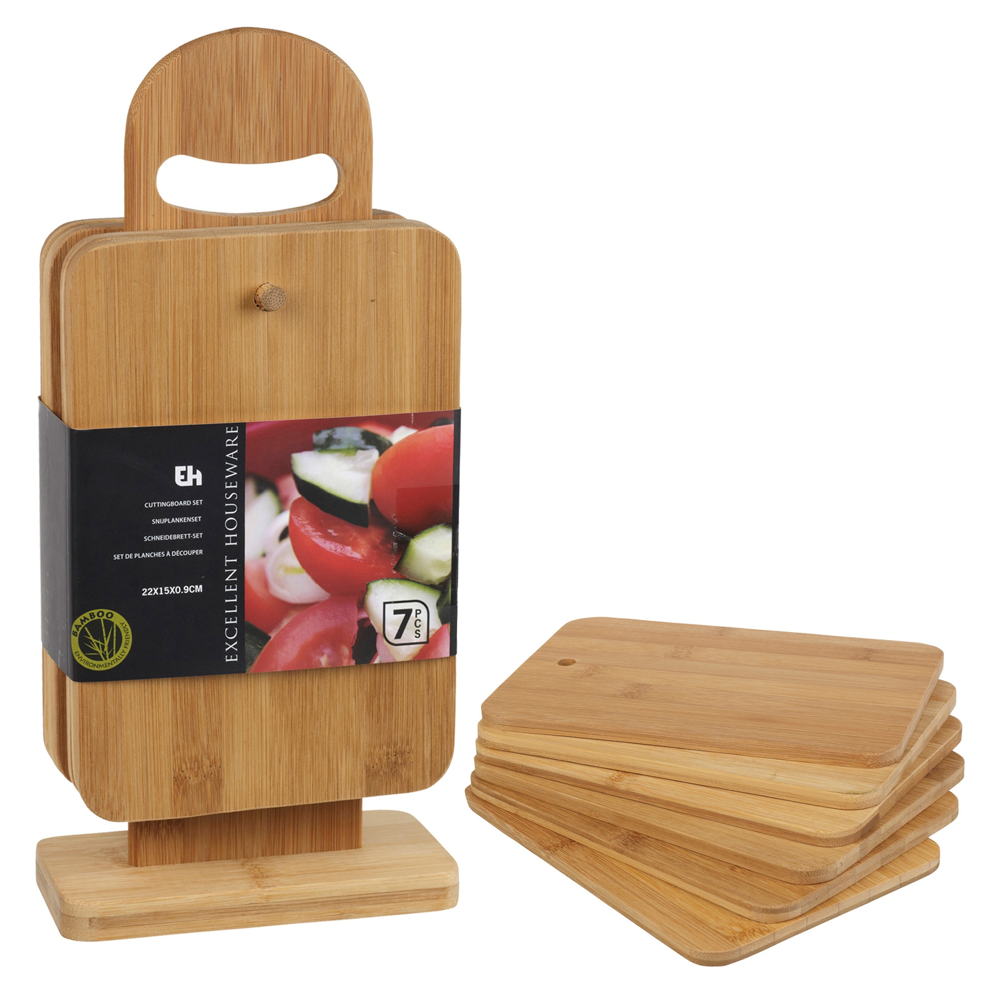 pcs bamboo chopping cutting slicing boards with display stand, Kitchen design