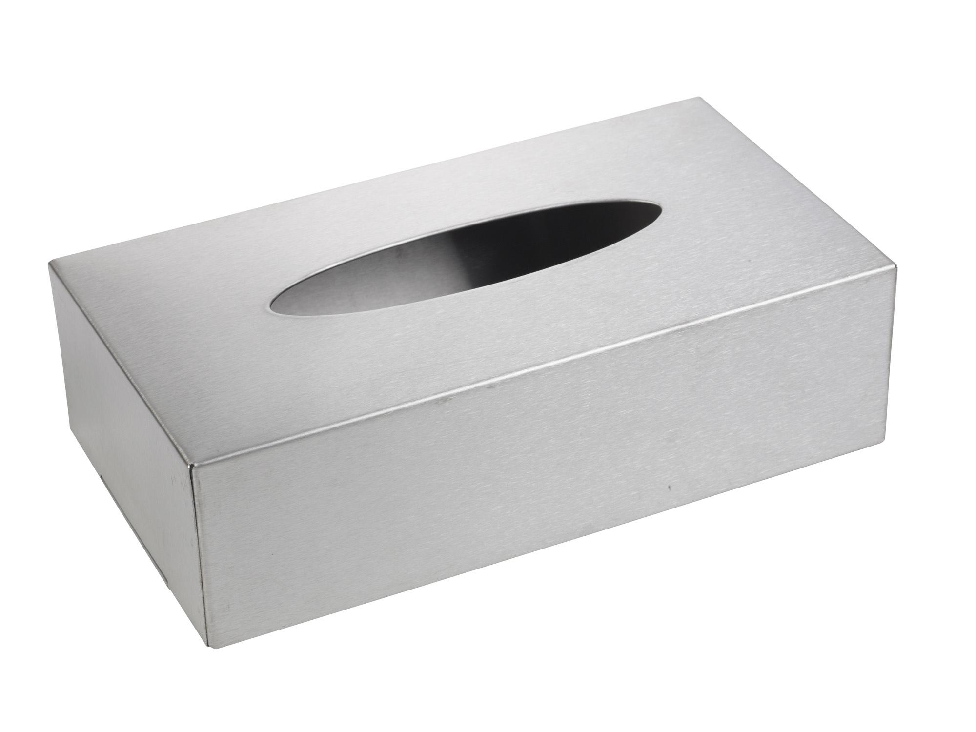 Brushed Stainless Steel Tissue Box Holder Dispenser Chrome ...