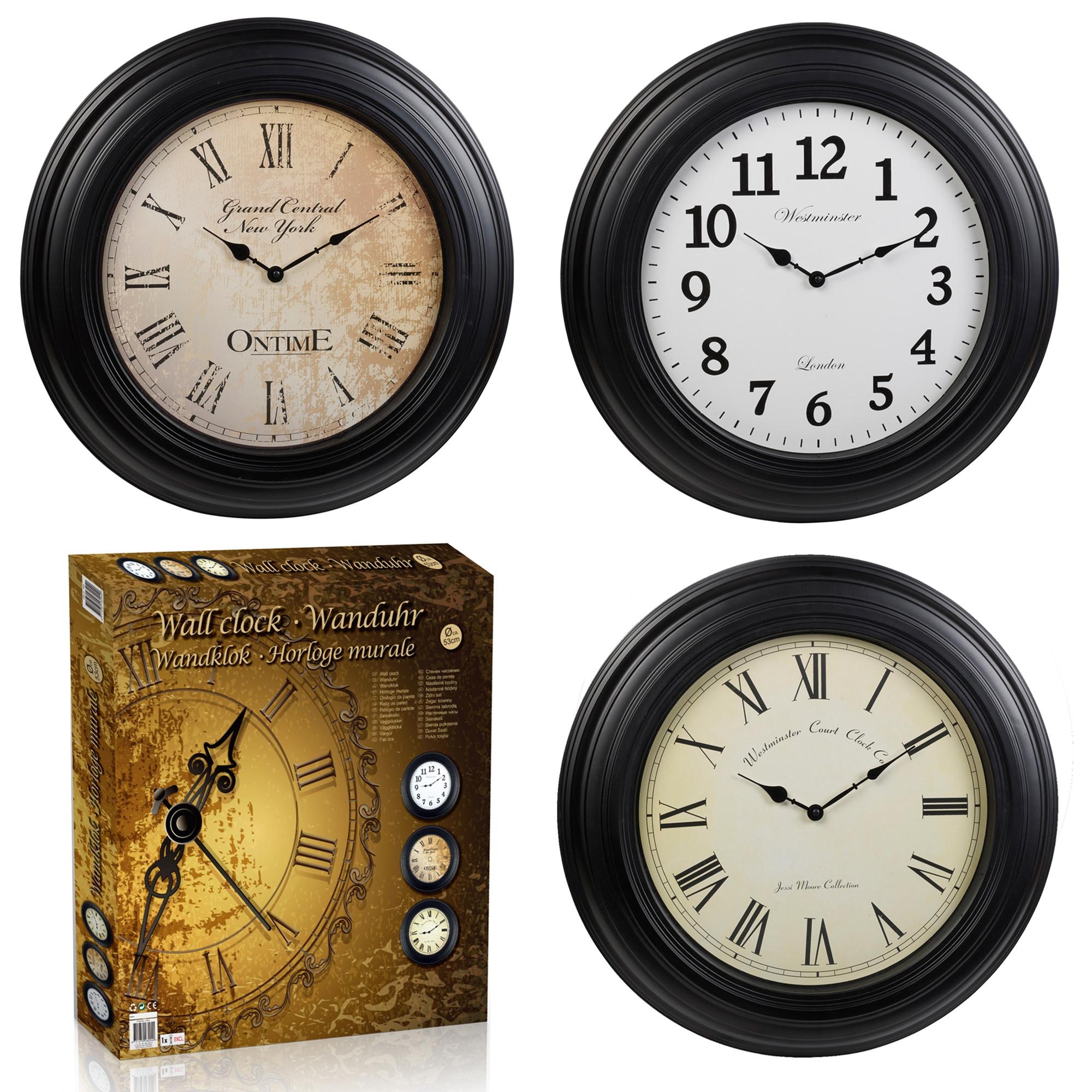53cm Extra Large Wall Clocks Vintage Retro Antique Style