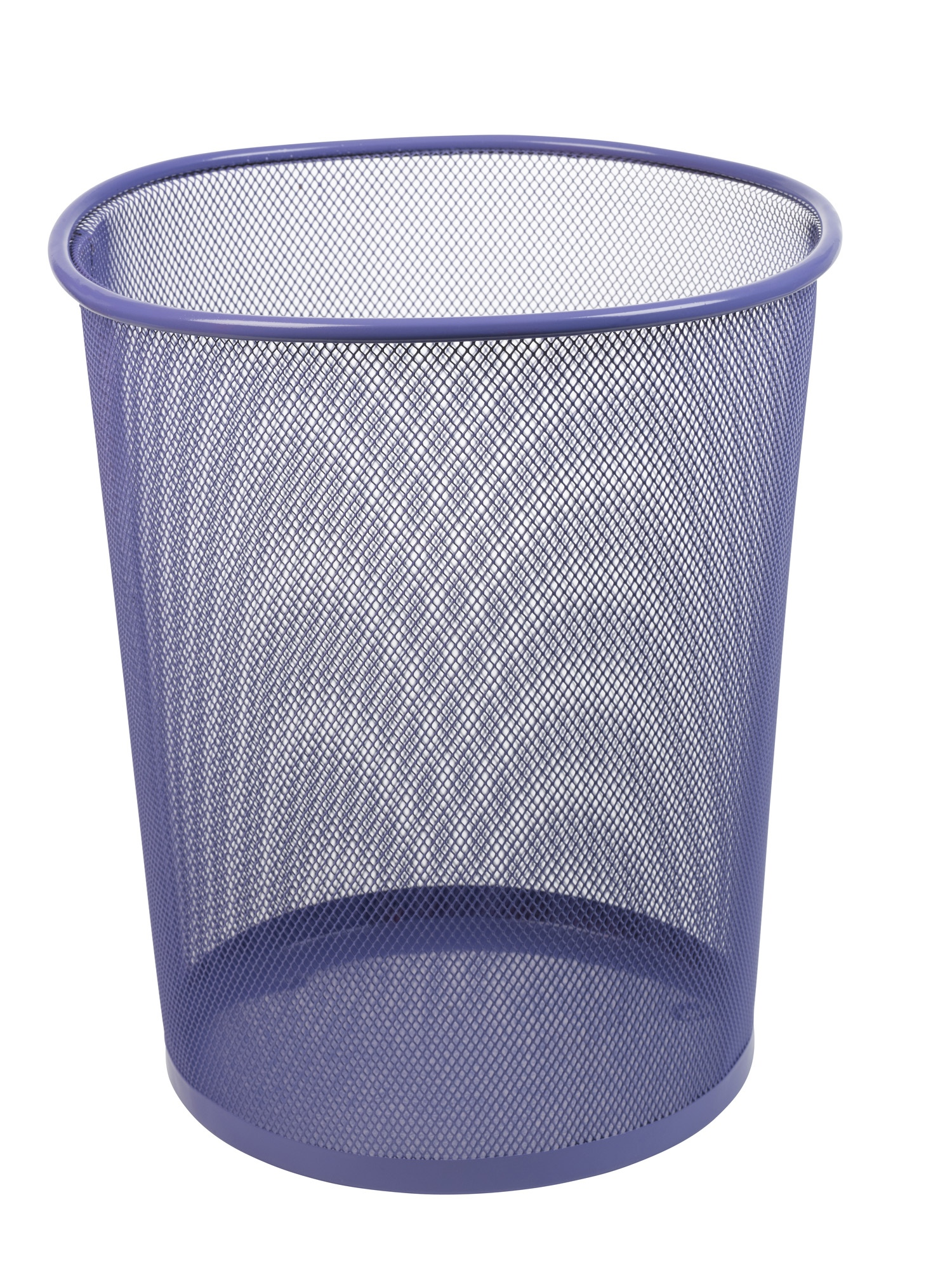 Large Colourful Mesh Waste Paper Basket Office Metal