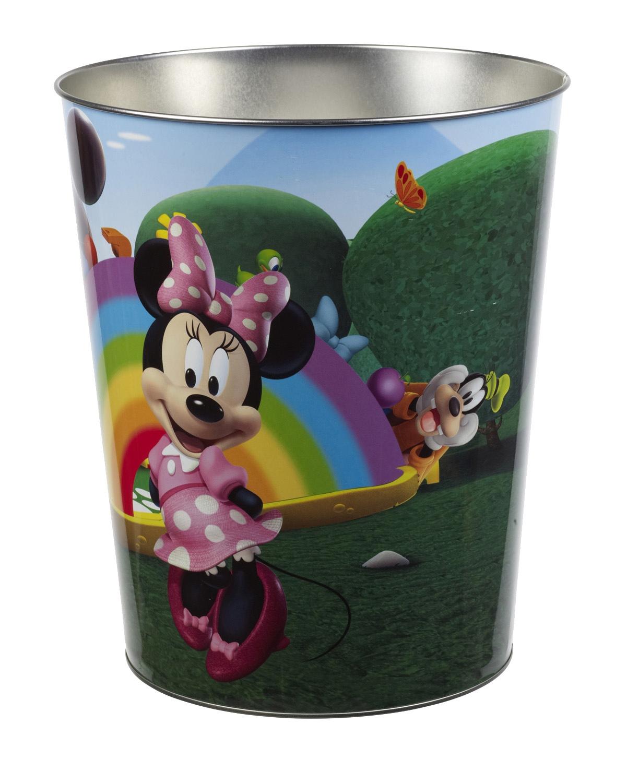 Disney Kids Stainless Steel Metal Rubbish Bin Children
