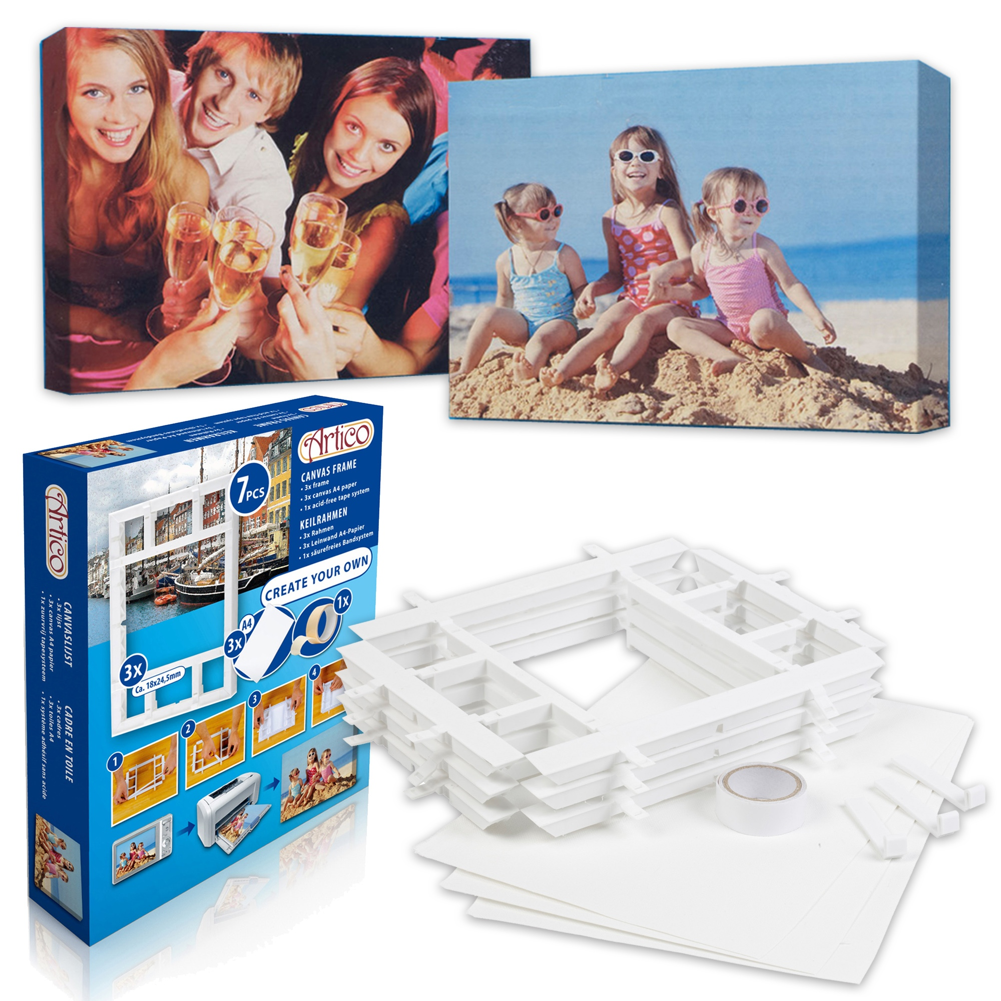 7pcs create your own a4 diy wall canvas picture frames kit tape item specifics jeuxipadfo Choice Image