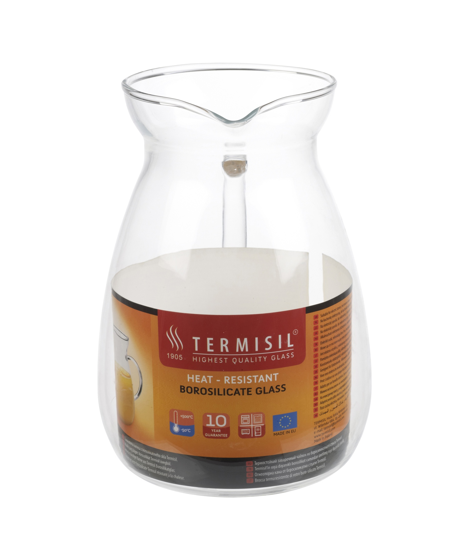 Termisil heat proof resistant jug borosilicate clear glass pitcher hot cold ebay - Heat proof pitcher ...