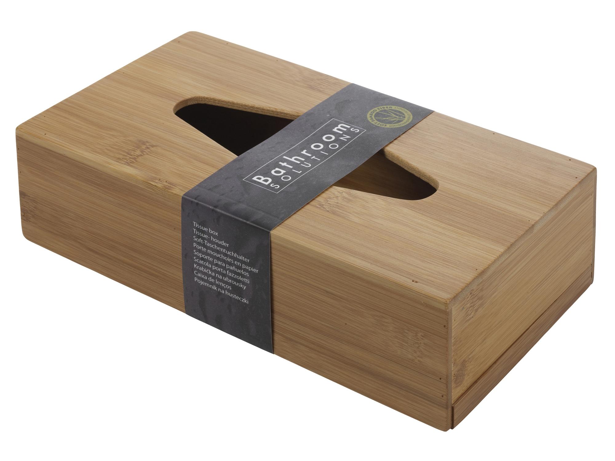 Bamboo wooden tissue box eco friendly sliding bottom rectangular kleenex holder ebay - Recessed facial tissue dispenser ...