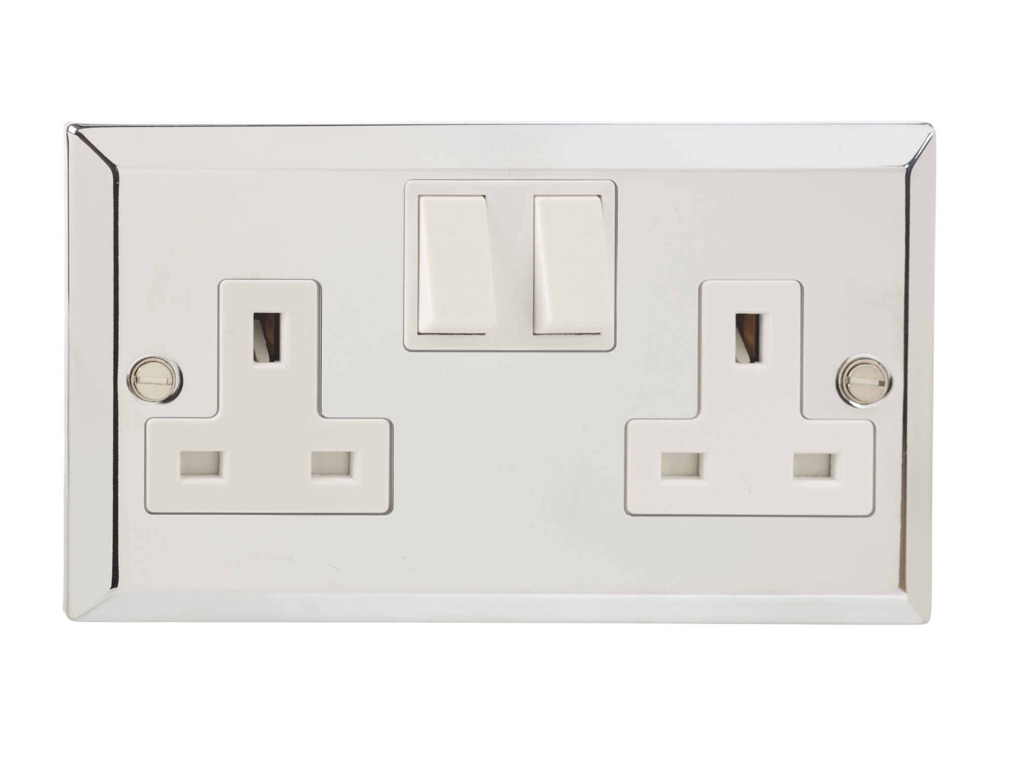 Wiring Double Pole Outlet Diagrams Gang British General Chrome Switched 2 Socket A