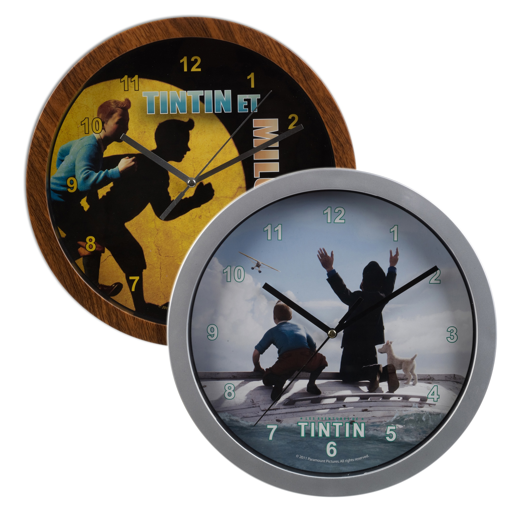 Tintin Wall Clock Children Bedroom Playroom Captain Haddok And Snowy Gift Ebay