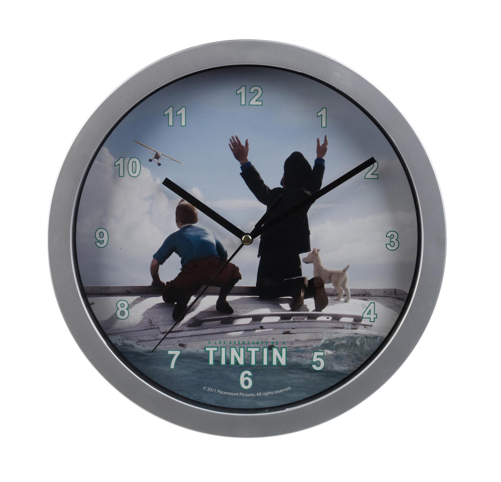 Tin tin. Tintin Wall Clock Children Bedroom Playroom Captain Haddok And