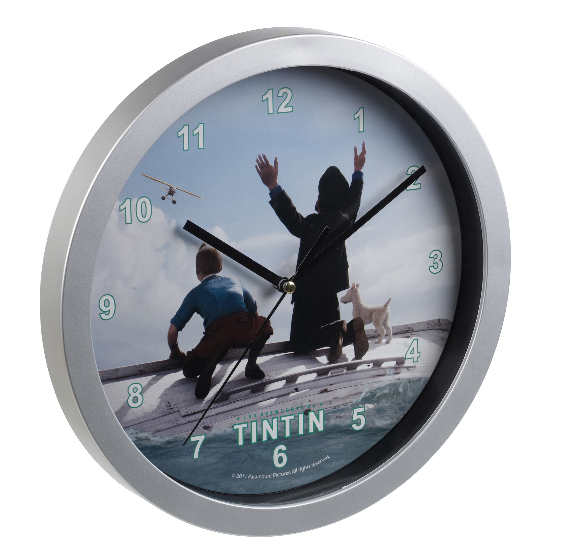 tintin horloge murale chambre enfants salle de jeux. Black Bedroom Furniture Sets. Home Design Ideas