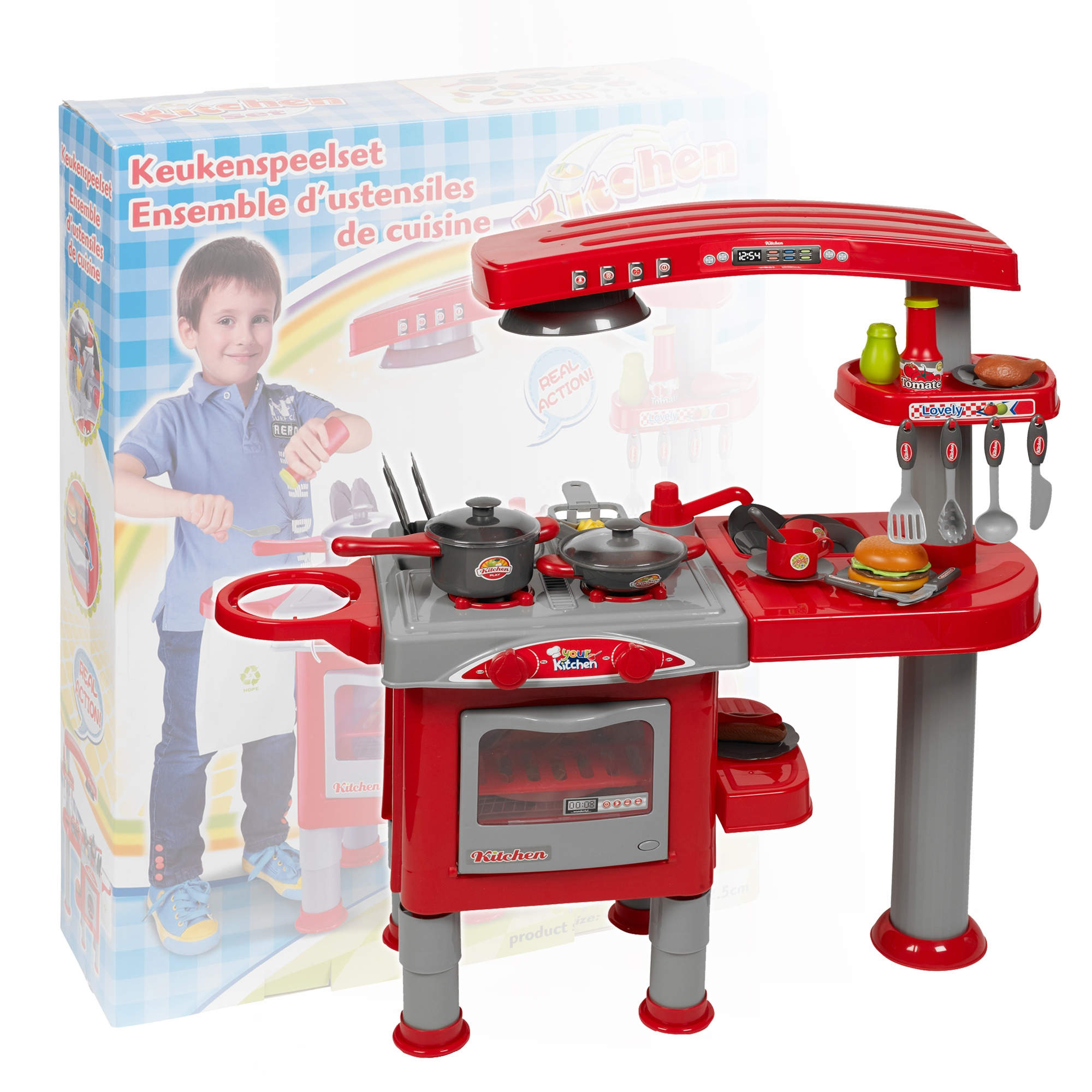 Cooking Toys For Boys : Piece kitchen cooking children s play set toy boys