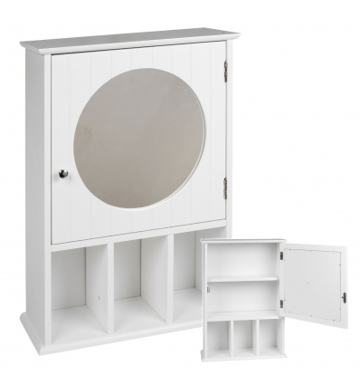 White Bathroom Cabinet With Mirror [647734]