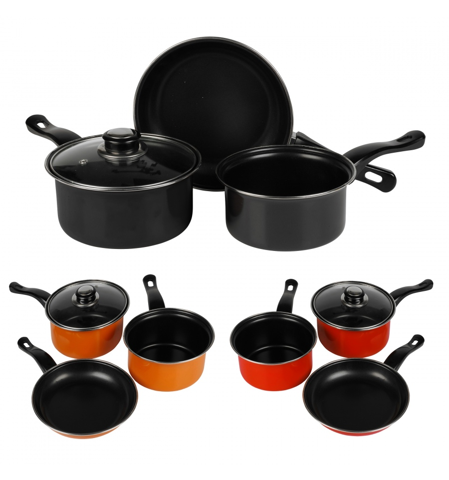 urbn chef 3 piece cookware set 507204. Black Bedroom Furniture Sets. Home Design Ideas