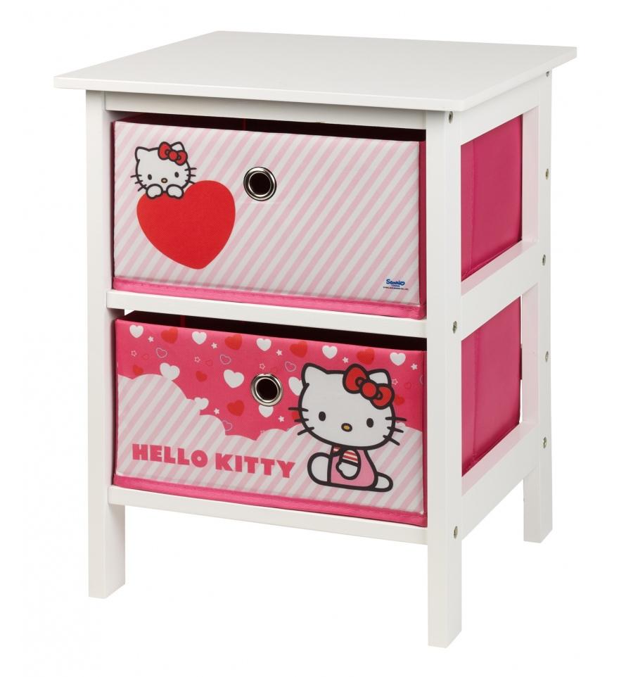 Gs Hello Kitty 2 Drawer Storage Unit 000803