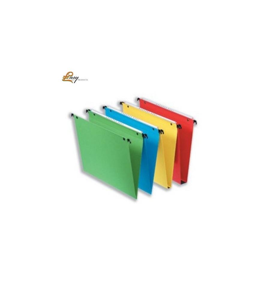 50 esselte vertical green suspension files. Black Bedroom Furniture Sets. Home Design Ideas