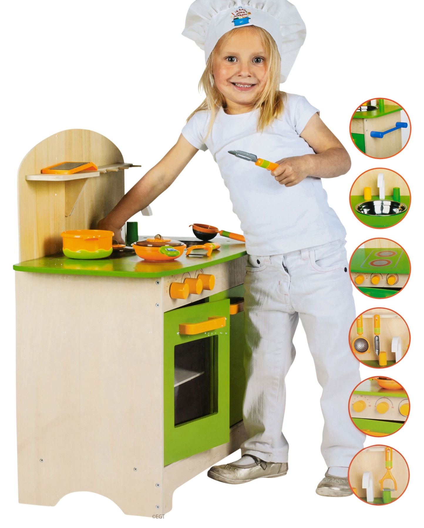 10 teilige teile holz k che kinder kochen rollenspiel set spielzeug chefkoch ebay. Black Bedroom Furniture Sets. Home Design Ideas
