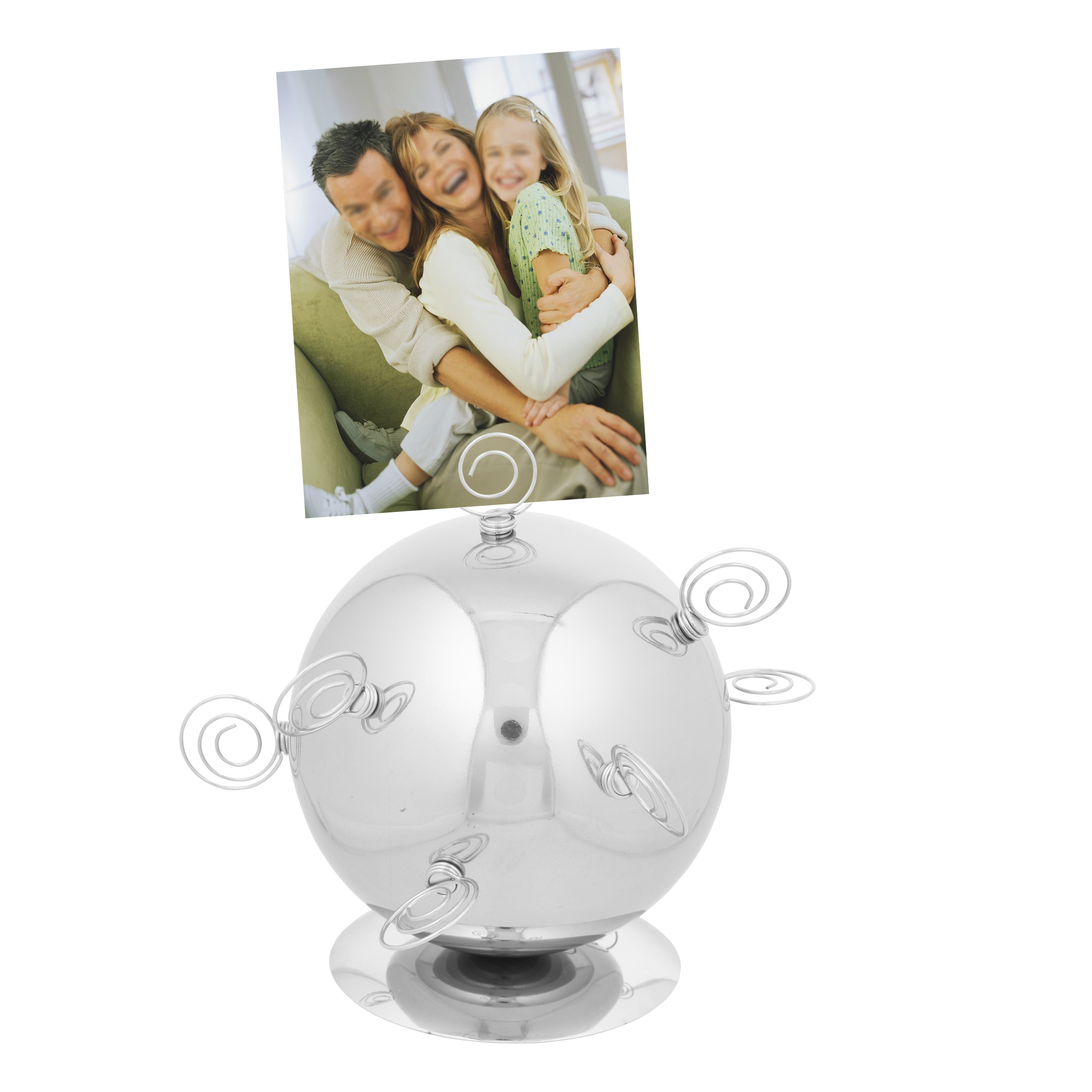 Magnetic photo picture metal ball display desktop holder - Simple ways of keeping your home organized using magnetic picture frames ...