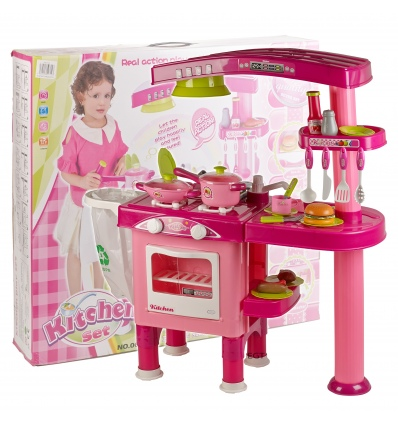 Girls 69pc kitchen playset 008 82 pink for Kitchen set 008 82