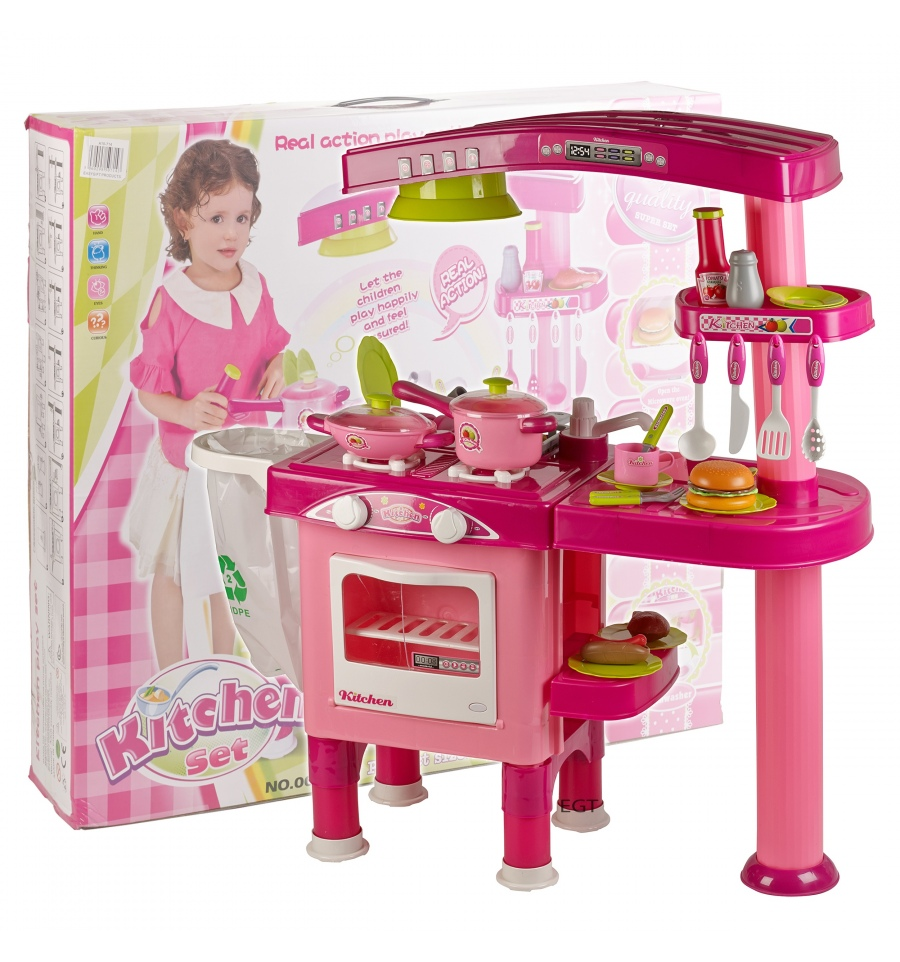 girls 69pc kitchen playset 008 82 pink
