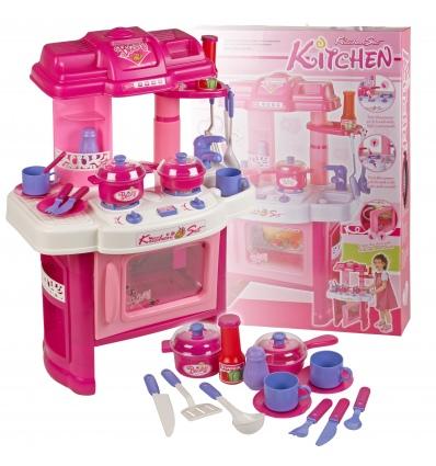 Girls kitchen set with light sound 507099 for Kitchen set wala game