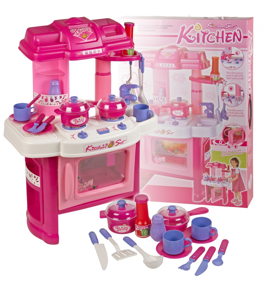 Girls Kitchen Set With Light & Sound [507099]