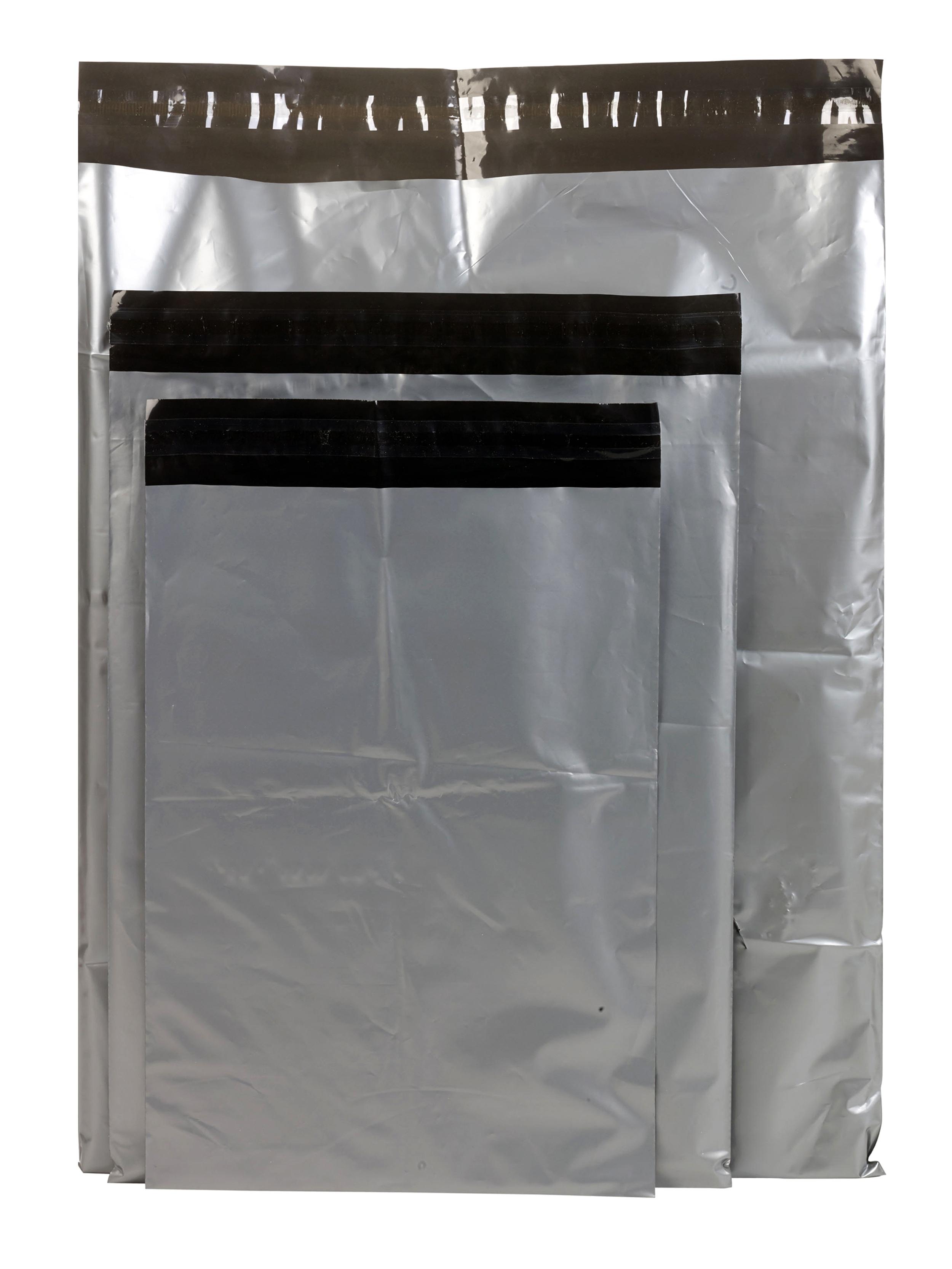 "10x14/"" GRAY MAILING POSTAL PACKAGING BAG self-adhesive strip peel /& seal New"