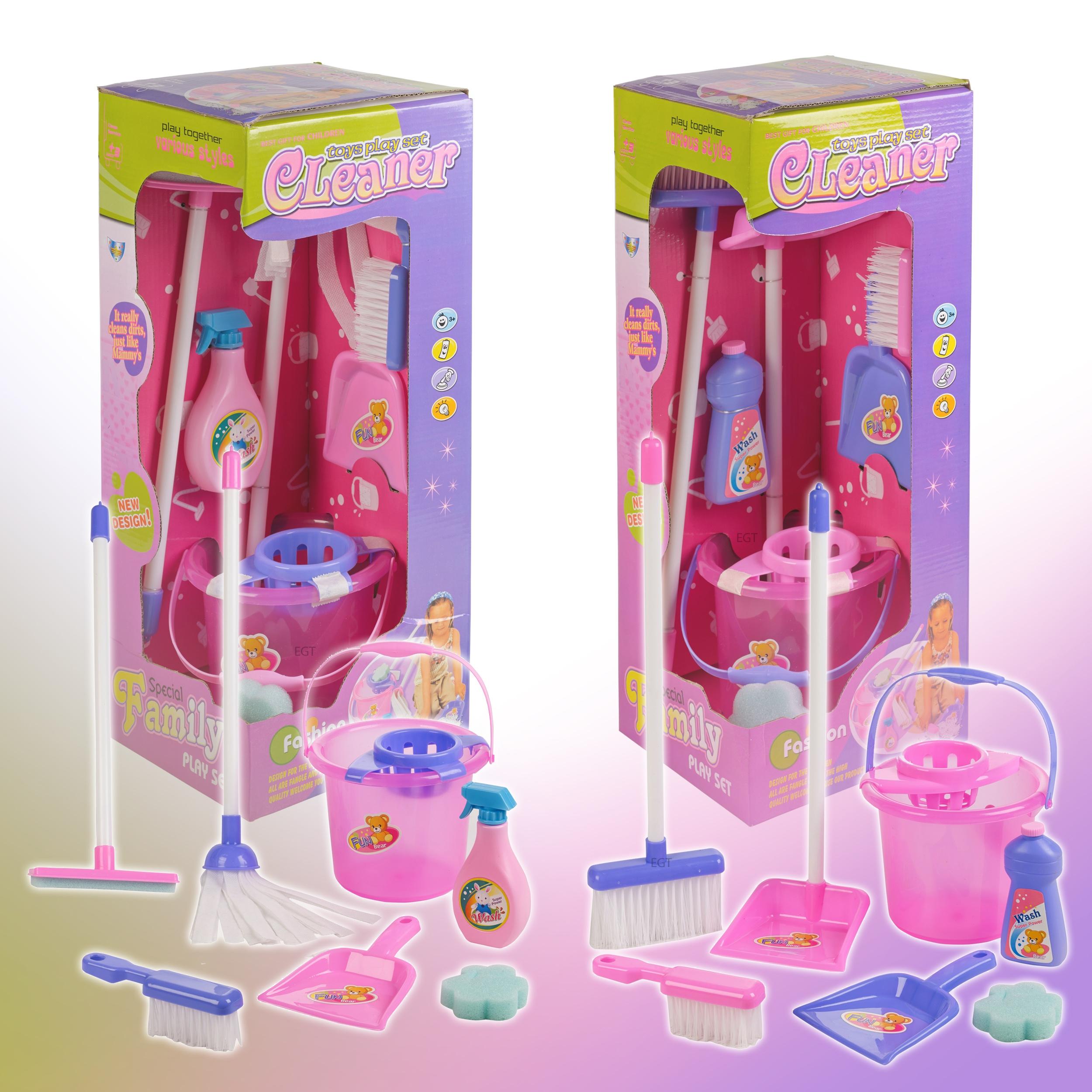 Children S Girls 7 Piece Toy Cleaning Mop Set Broom Brush