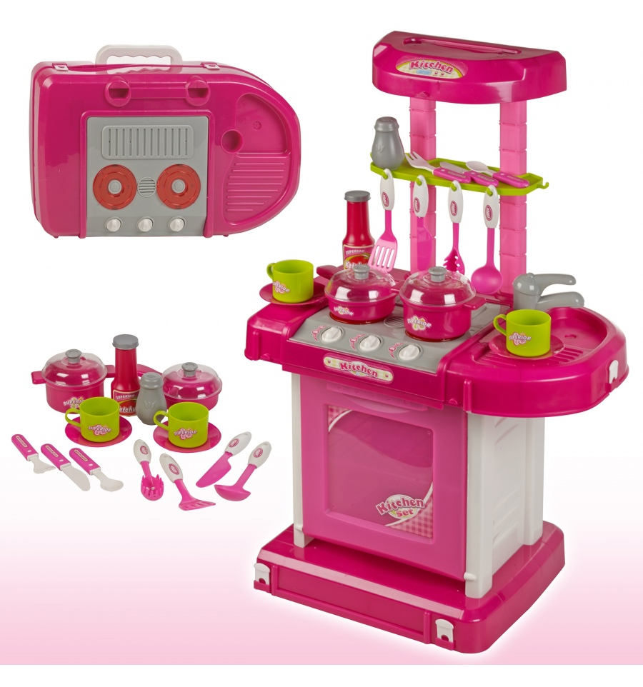 Kids portable kitchen playset 507105 for Toy kitchen set