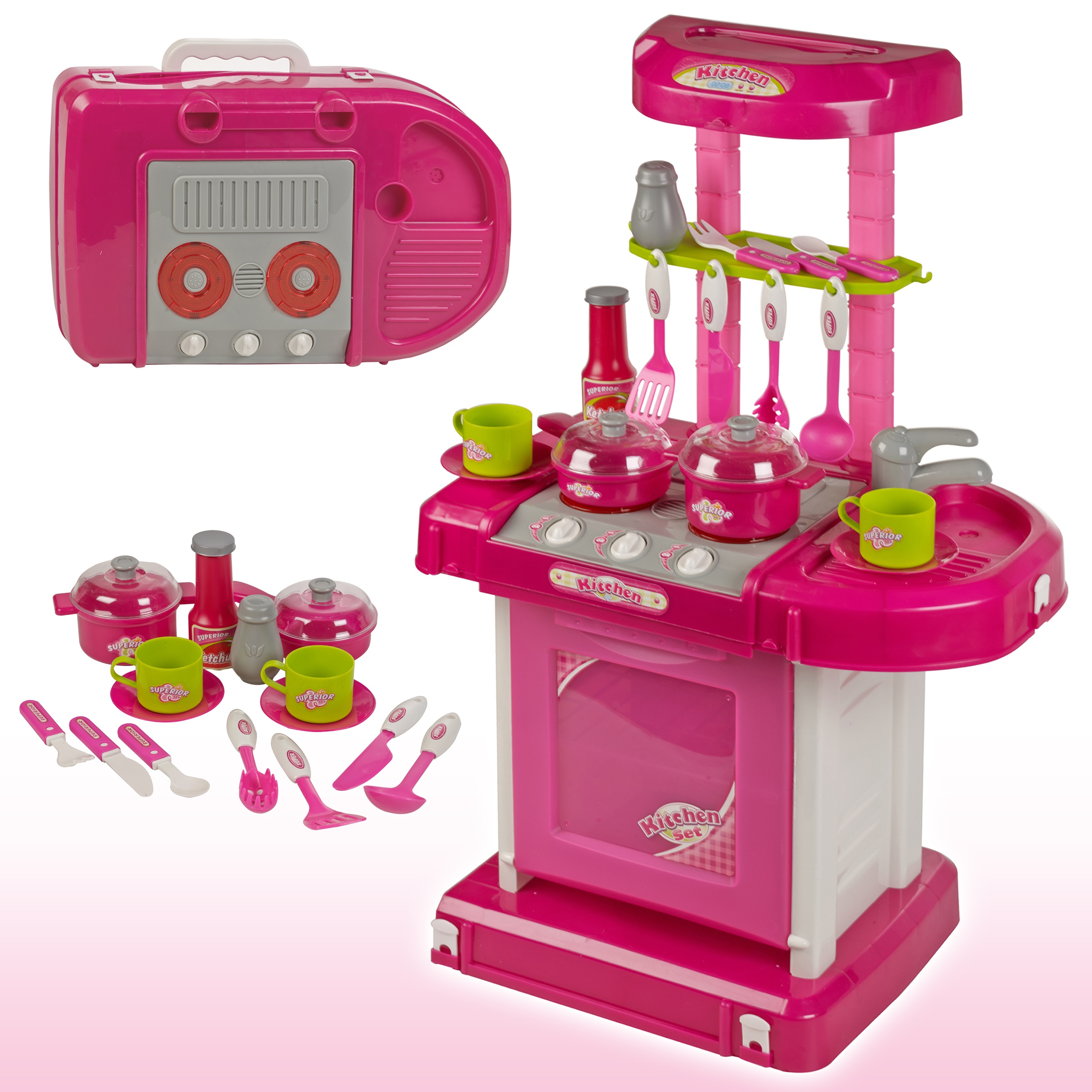 Girls Portable Electronic Kitchen Cooking Children's Play