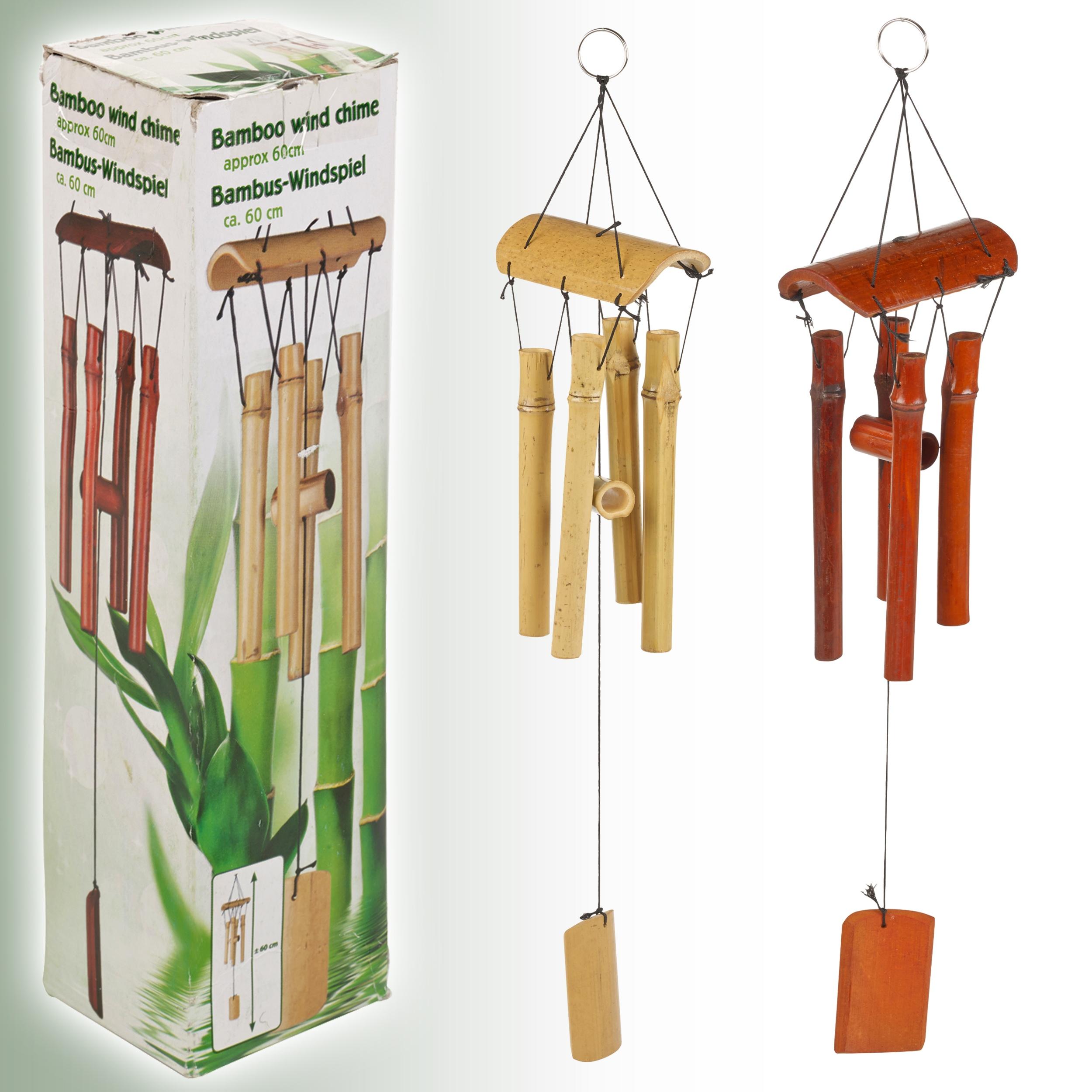naturel carillon de vent en bambou jardin suspension. Black Bedroom Furniture Sets. Home Design Ideas