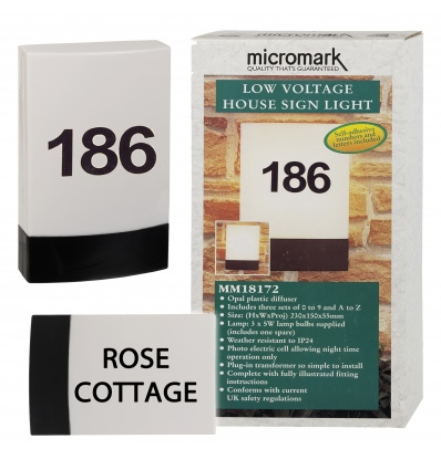 Micromark House Number Light  [18172] | 2014