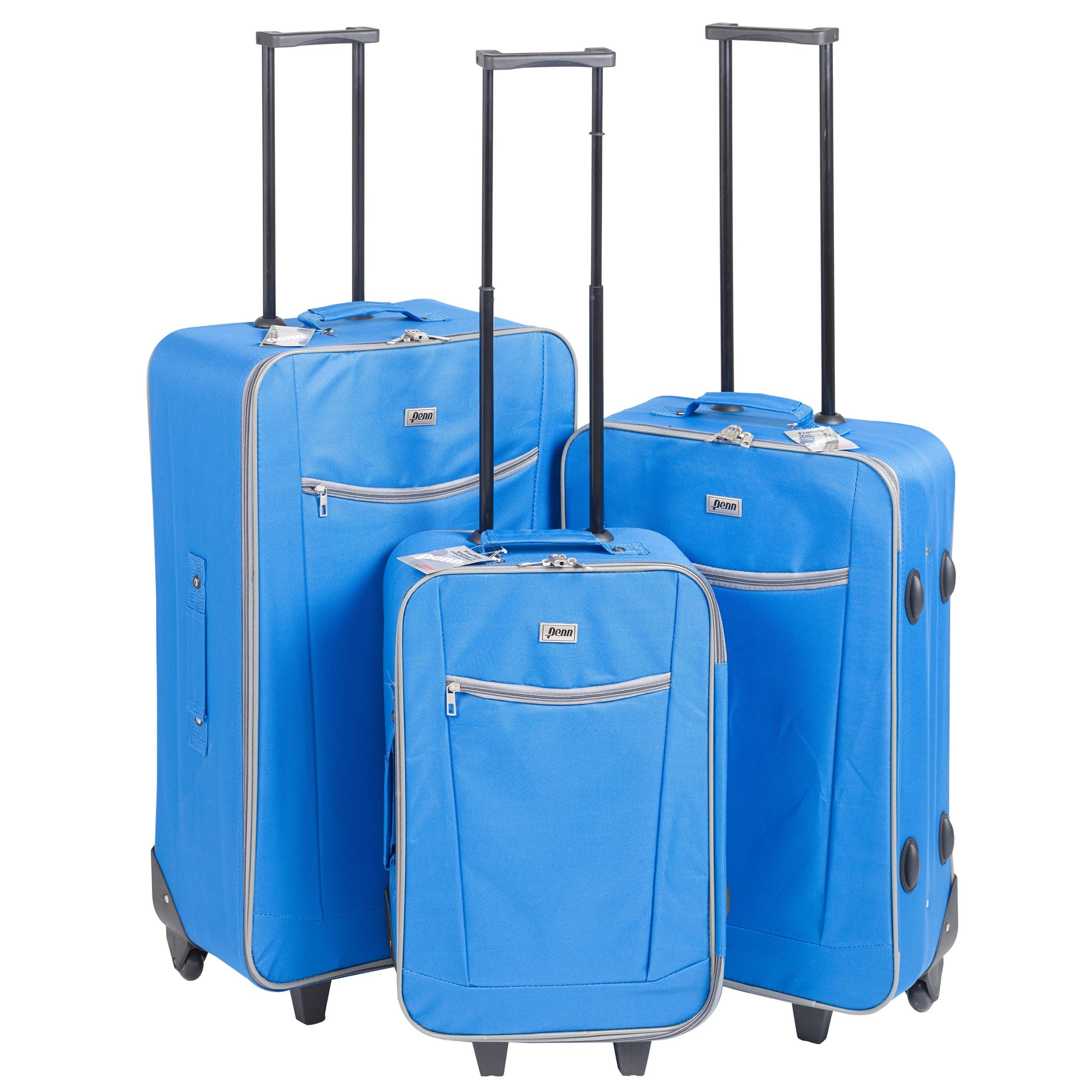3 x Penn Lightweight Trolley Wheel Suitcase Luggage Travel ...